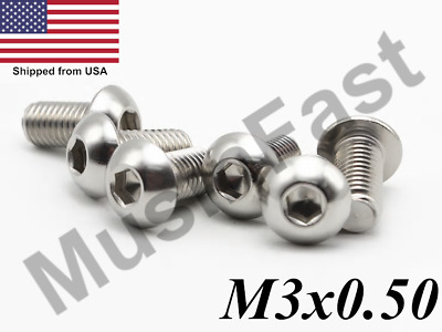 $5.49 • Buy M3x0.5 Button Head Socket Cap Screw 6mm-35mm Stainless Steel ISO: 7380 A2 18-8