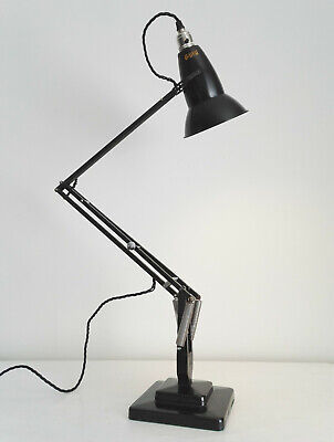 Early Anglepoise 1227. 2 Step With Perforated Shade. Black. Herbert Terry & Sons • 295£