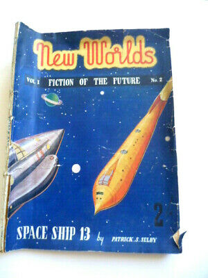 RARE 1946 No. 2 New Worlds Science FIction Of The Future UK Ed Magazine V POOR • 14.95£