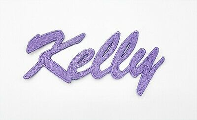 £6 • Buy Personalised Name Patch, Single Name Patch, Name Applique, Embroidered Name