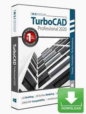 TurboCAD Pro 2020 2D & 3D CAD Design Software -- Electronic Download • 715.35£