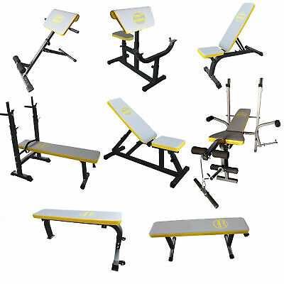 Weight Bench Training Multi Gym Fitness Preacher Butterfly Exercise Incline   • 139.99£