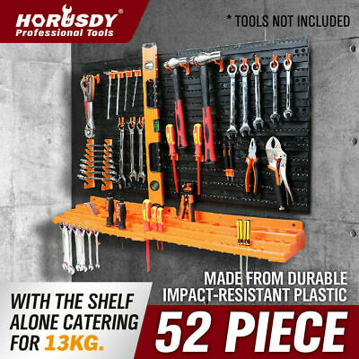 AU34.98 • Buy 52Pc Wall Mounted Tool Storage Rack Wrench Spanner Holder Screwdriver Pliers New
