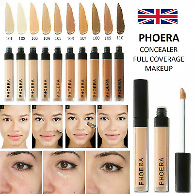 Phoera®  Concealer Foundation Full Coverage Conceal Matte Brighten Long Lasting  • 4.99£