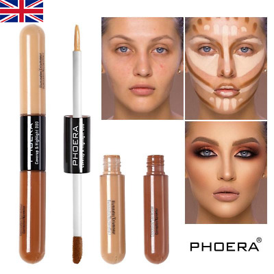 PHOERA Sculpt & Highlight Concealer Contour Foundation Dual Face Shadow Stick UK • 4.95£