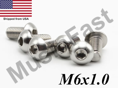 $4.34 • Buy M6x1.0 Button Head Socket Cap Screw 8mm-40mm Stainless Steel ISO: 7380 A2 18-8