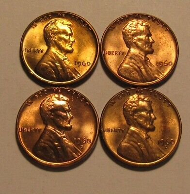 $2.22 • Buy 1960 PD Small / Large Date Lincoln Cent Penny - Mixed BU Condition - 44SU