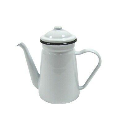 $35.99 • Buy Rustic White Enamel Camping Hot Coffee Tea Pot Vintage Farmhouse Outdoor Decor
