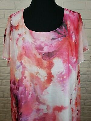 $22.49 • Buy Live And Let Live Womens Plus Size 3X Top Tunic Sheer Floral Scoop Neck Blouse