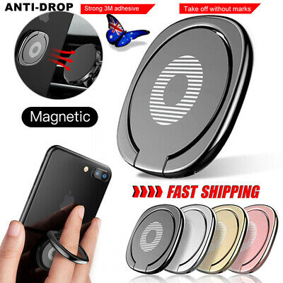 AU6.99 • Buy Magnetic Metal Phone Smart Ring Holder Grip Socket Stand Dock Mount Pop Bracket