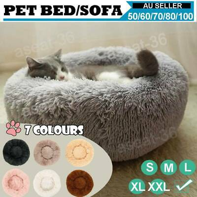 AU27.03 • Buy Pet Dog Cat Calming Bed Warm Soft Plush Round Nest Comfortable Sleeping Cave !