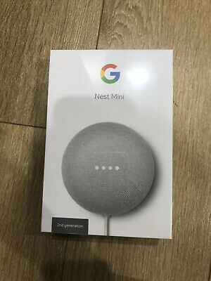 AU65 • Buy Google Nest Mini (2nd Generation) Smart Speaker - Chalk Brand New Unopened