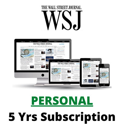 $69 • Buy Wall Street Journal WSJ 5Years PERSONAL Digital Subscription All Platforms