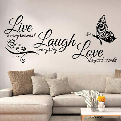 Live Laugh Love Wall Art Sticker Home Bedroom Living Room Quote Vinyl Decal • 4.10£