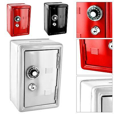 High Safety Security Metal  Box Mini Home Office Money Cash Savings With 2 Keys • 11.29£