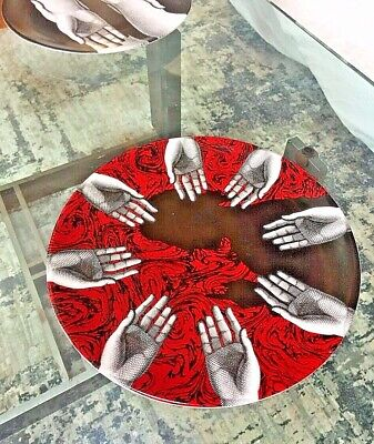 $260 • Buy Fornasetti Large Round Charger Plate Centerpiece Don Giovanni
