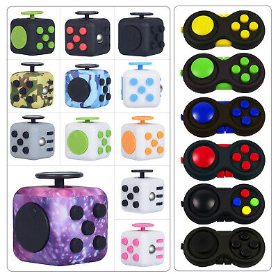 AU11.49 • Buy Fidget Cube 3D Focus Stress Reliever Toys Anti-anxiety Colourful Hand Toys Kids