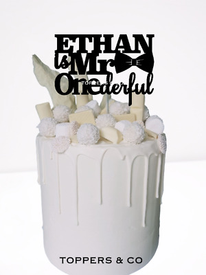 AU15 • Buy Personalised Cake Topper 1st Birthday One First Mr Onederful Wonderful Name