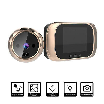 2.8  LCD Display Peephole Camera Viewer Video Doorbell IR Night Vision Gold X0U1 • 22.69£