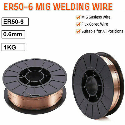 Mig Wire Gasless Flux Cored 0.6mm 5kg Welding Welder Reel No Gas Steel 200mm • 16.59£