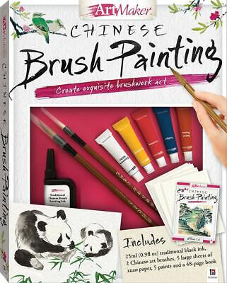 Art Maker Chinese Brush Painting (Portrait) By Hinkler Books Free Shipping! • 11.77£