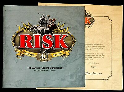 $7 • Buy Risk 40th Anniversary Collector's Edition Directions And Certificate Only