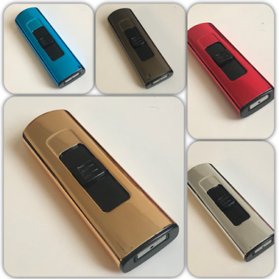 Electric Rechargeable Lighters  Metallic Cigarette Lighters USB Charging Multi  • 2.49£
