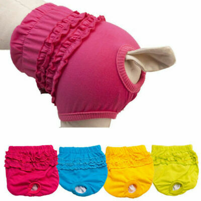 Female Dog Pet Season Heat Pants Underwear Sanitary Nappy Menstrual Diaper UK • 3.79£