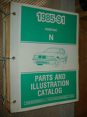 $29.50 • Buy 1985-1991 Pontiac Grand Am Parts Book Catalog Numbers Book Wow T Series 88 89 90