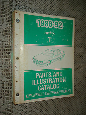 $27.50 • Buy 1988-1992 Pontiac Lemans Parts Book Catalog Numbers Book Wow T Series 89 90 91