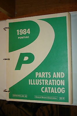 $64.50 • Buy 1984 Pontiac Fiero Parts Book Catalog Numbers Book Wow P Series Nos