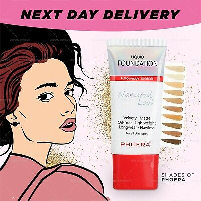 Phoera Naturally Flawless Full Coverage Oil Free Soft Matte Liquid Foundation • 4.49£