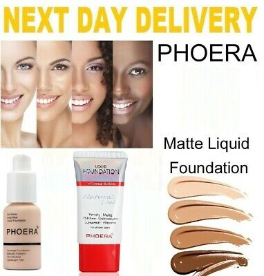 Phoera Naturally Flawless Full Coverage Soft Matte Liquid Foundation Oil Free • 6.25£
