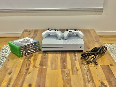 AU217.50 • Buy Microsoft Xbox One S 1TB White Console | 8 Games | 2 Controllers