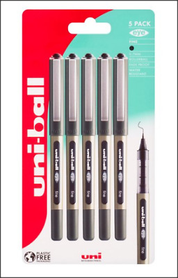 Uni-Ball 5 Pack Fine Eye Pens. 0.7 Mm Rollerball. Fade Proof & Water Resistant.  • 6.50£