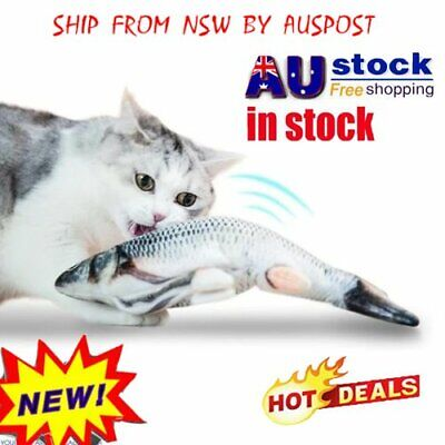 AU11.35 • Buy Electric Cat Wagging Fish Toy Realistic Plush Simulation Fish Kids Toy WZ