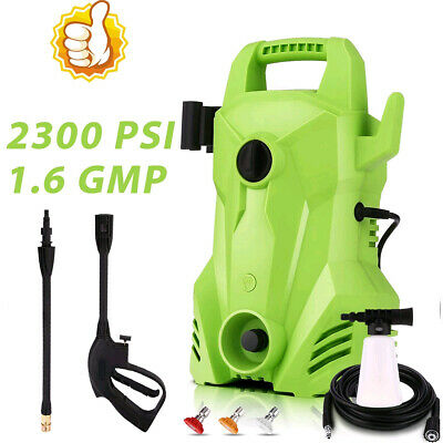 $79.99 • Buy 2300PSI 1.6GPM Electric Pressure Washer 1400W Portable External Detergent Dispen
