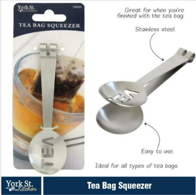 AU6.50 • Buy Au Stainless Steel Teabag Drying Tongs Decorative Tea Bag Squeezer Kitchen Tool