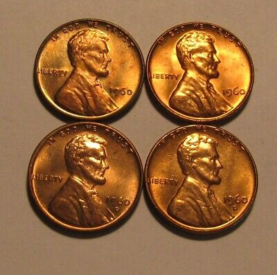 $0.99 • Buy 1960 PD Small / Large Date Lincoln Cent Penny - Mixed BU Condition - 45FR