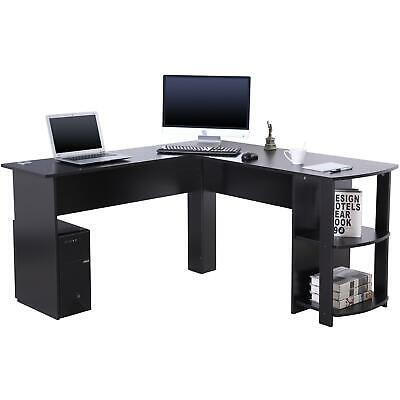 £58.99 • Buy Large Corner Desk With Shelves For Home Office - Piranha Furniture Pacu
