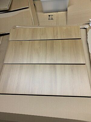 B&Q Set Of 3 Sandford Textured OAK  Kitchen  Pan Draw Fronts Set 800 X 715mm • 25£