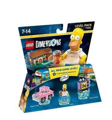 AU23.64 • Buy Lego Dimensions The Simpsons Level Pack New