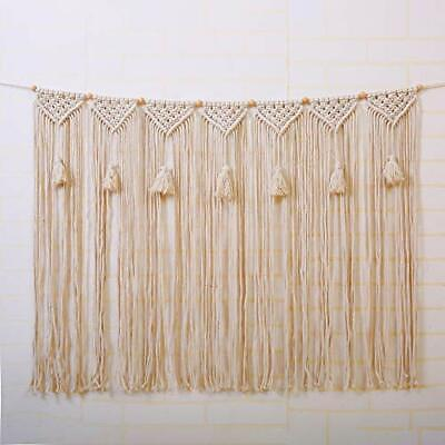 $24.67 • Buy Macrame Wall Hanging Tapestry For Wedding Backdrop Curtain Fringe Garland Banner