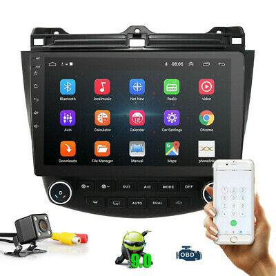 $182.99 • Buy 10.1'' Touch Screen Car Radio GPS Stereo For Honda Accord 2003-2007 Android 9.1