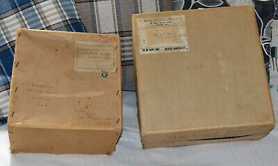 2 Vintage 1940s Cardboard Hat Boxes - Miss Swerling Milliner For Films + Another • 19.80£