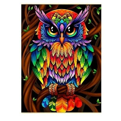 AU12.99 • Buy Owl Animals 5D Full Drill Diamond Painting Kits Embroidery Decor Colourful  DIY