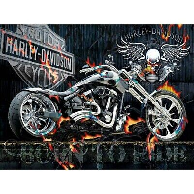 AU14.99 • Buy Motorcycle 5D Full Drill Diamond Painting Embroidery Kits Home DIY Arts Decors
