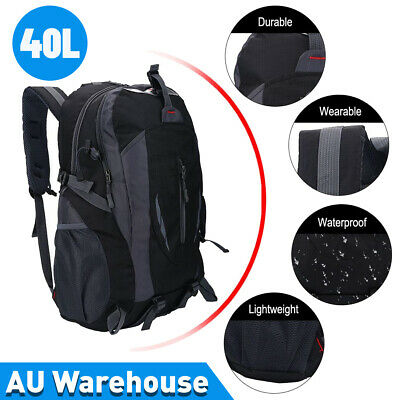 AU26.92 • Buy 40L Outdoor Military Rucksack Tactical Backpack Camo Hiking Camping Bag