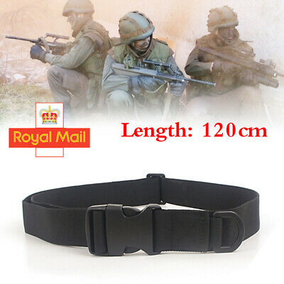 Quick Release Buckle Military Trouser BELT Army Tactical Canvas Webbing Black UK • 4.29£