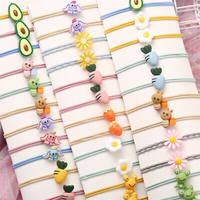 $1.94 • Buy 12pcs Girls Hair Accessories Cartoon Elastic Headwear Kids Hair Bands Decoration